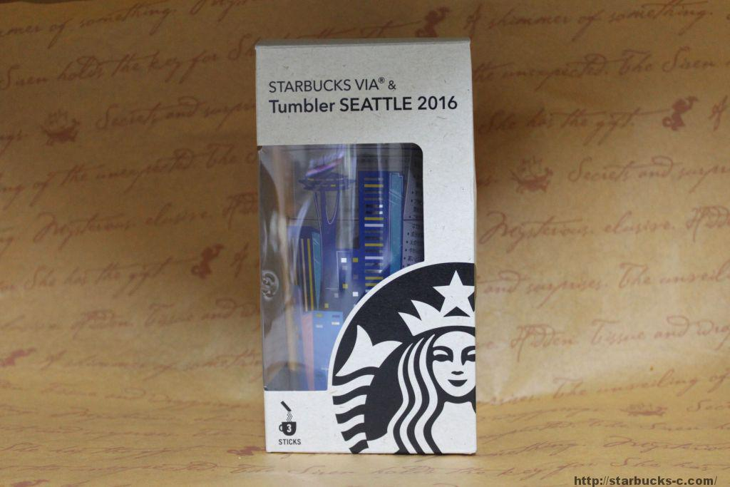 STARBUCKS VIA & Tumbler SEATTLE 2016